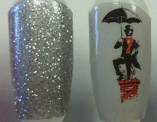 Chimney Man and Silver Nail Wraps