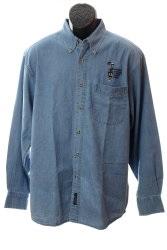 NCSG Logo L/S Button-Up Denim Shirt